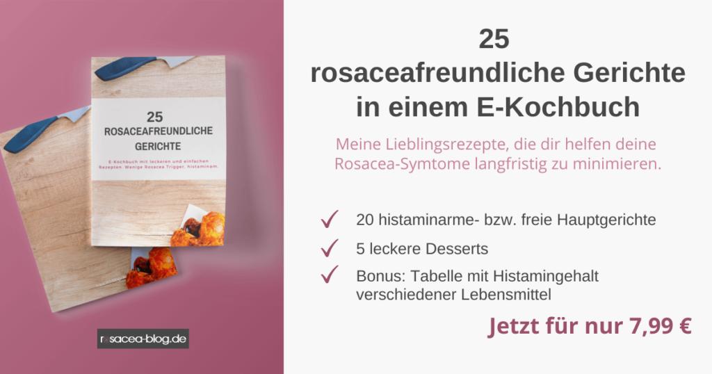 25 rosaceafreundliche Gerichte in einem E-Kochbuch.
