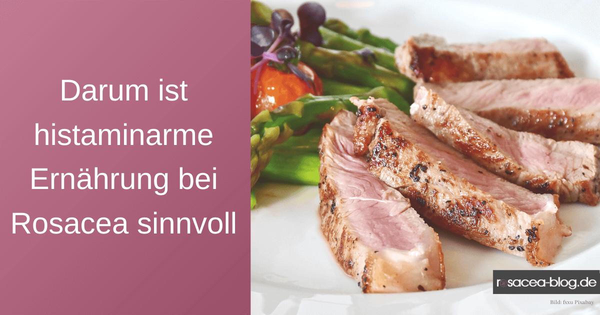 Histaminarme Ernährung bei Rosacea